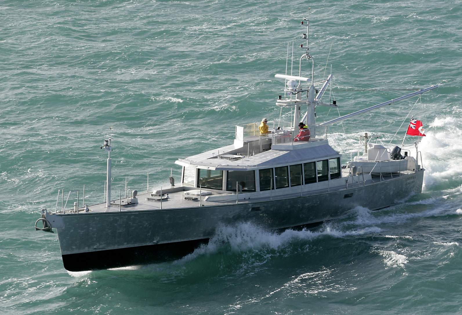 Wind Horse  during sea trials off Auckland, New Zealand.
