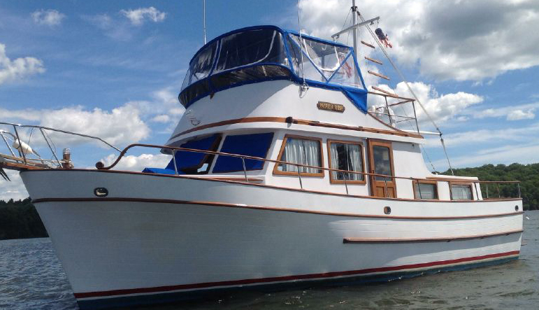 An older Marine Trader that has been well maintained by all of its owners. A viable choice, but finding a trawler of this vintage in this shape is getting harder these days. And it likely has issues that will take time and money to deal with.