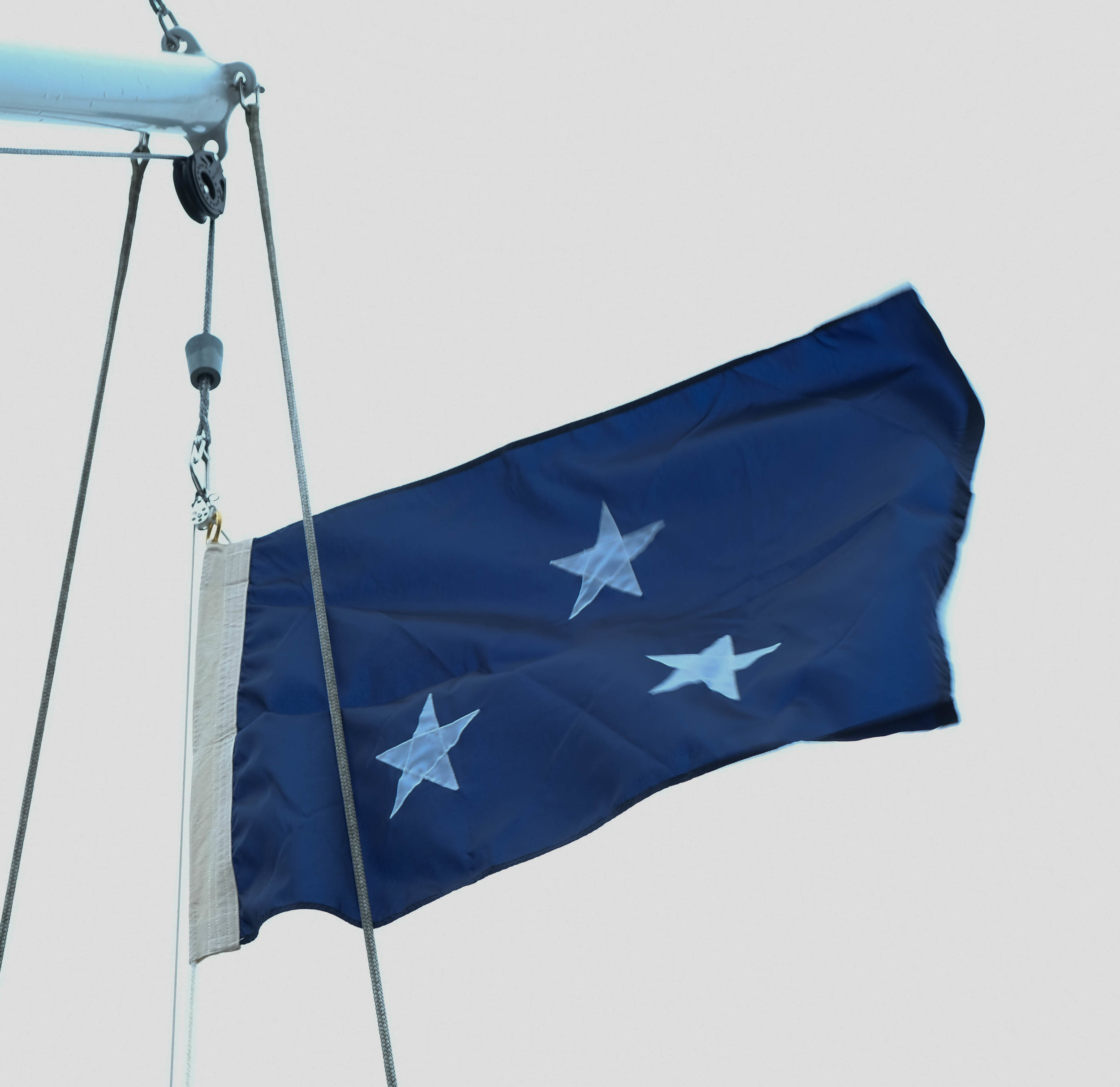 Wish we could keep this flag, and fly it whenever we arrive in a Navy town. Sure to open doors!