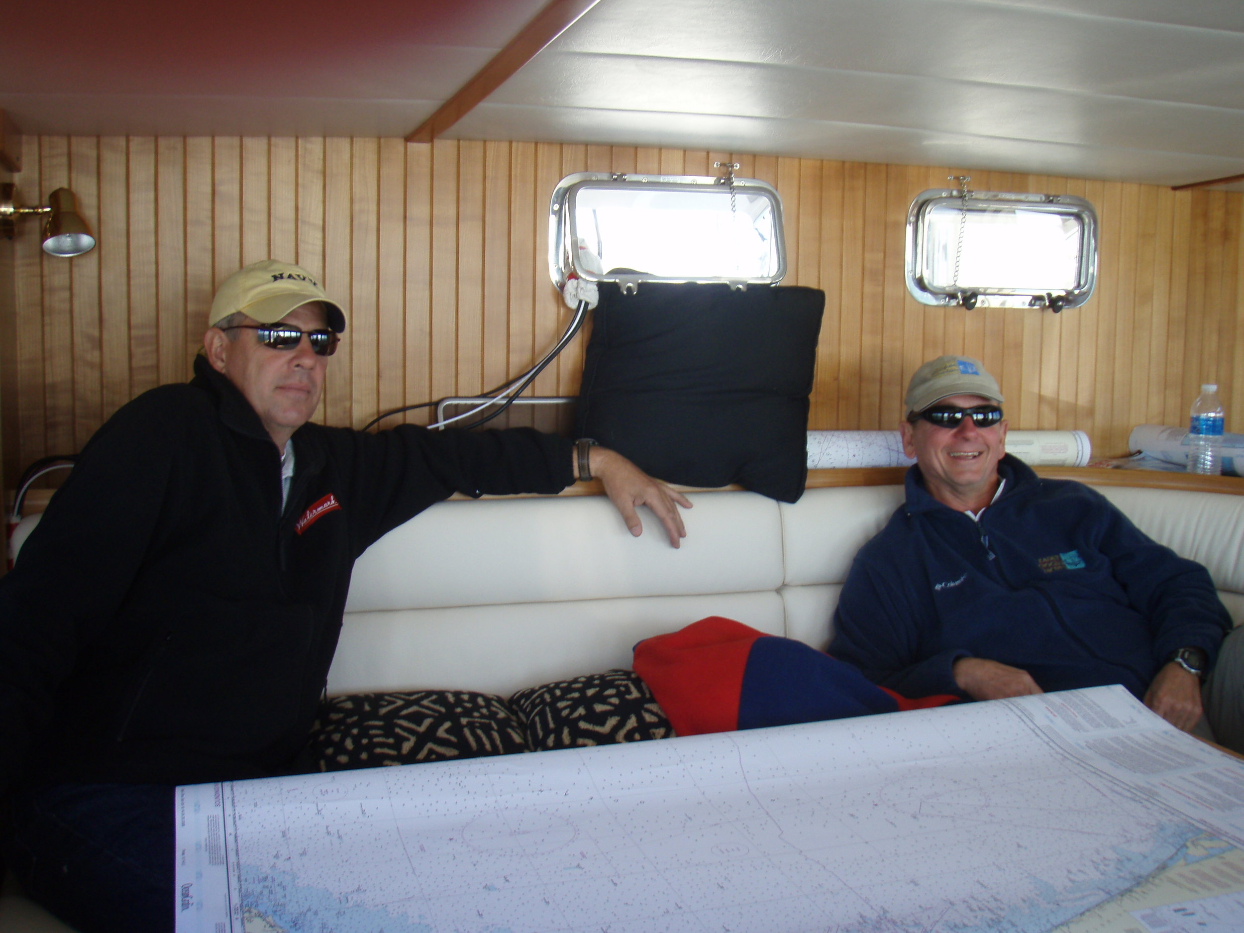 Even off-watch crew tend to congregate in the pilothouse, preferring the sunny view with bright colors of the sea and wildlife over the dingy view out tinted windows elsewhere on the boat.