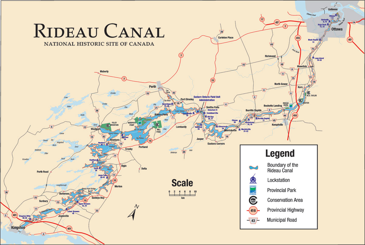 The Rideau Canal is one of the most fun and least stressful cruise adventures one can enjoy on a smaller boat.