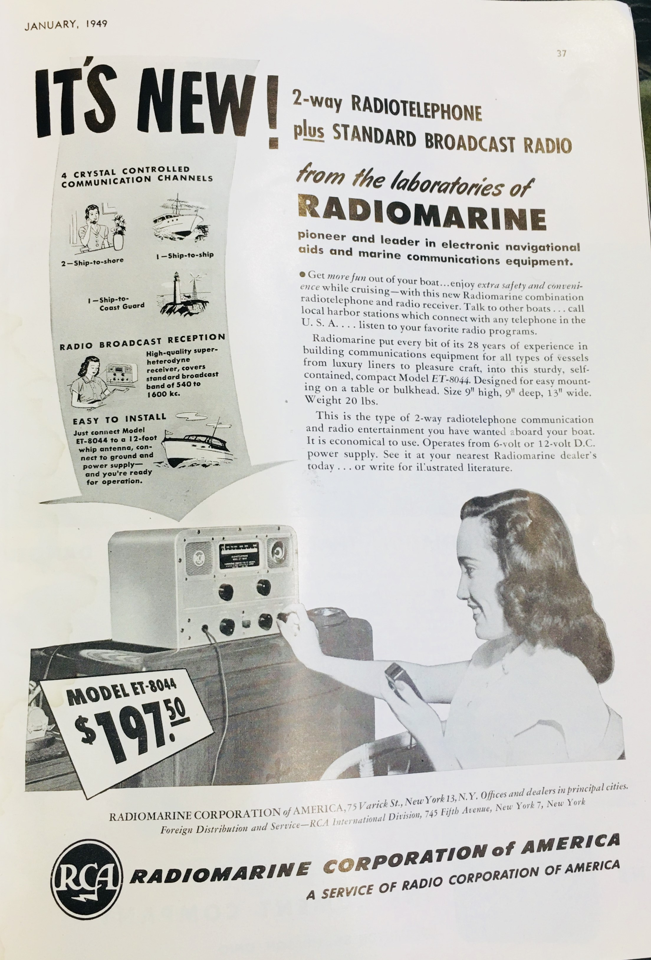 "Radio communications and ""electronics"" gathered momentum following the war, and as transistors and other inventions became more common, the world changed. Remember when radios used vacuum tubes? Did you ever build a crystal radio as a kid?"