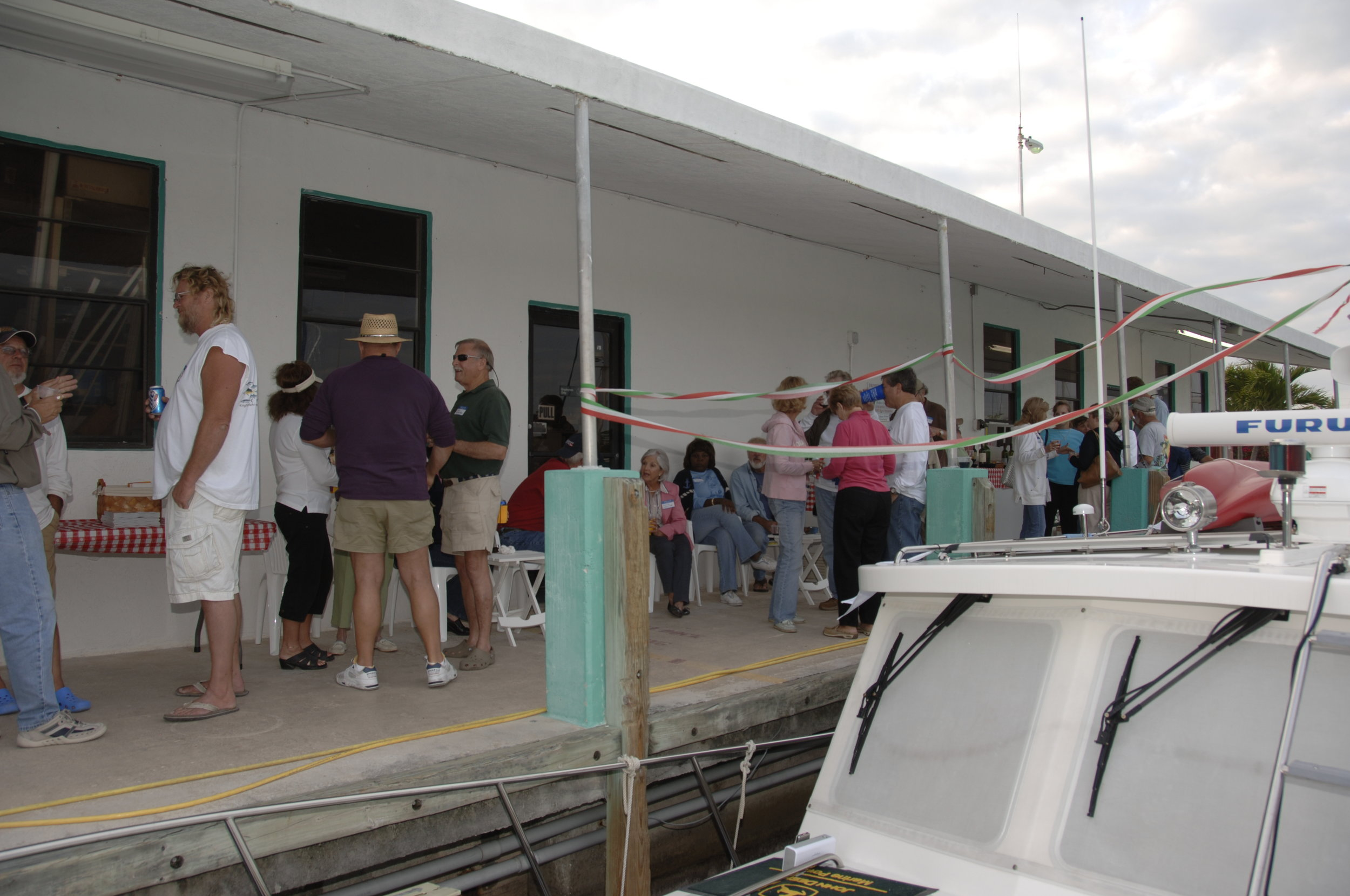It's so fun to look at all of these pictures from the past. One year Laurene and I hosted a PassageMaker pizza party at our marina in Marathon for all of the many friends who made the Florida Keys their winter home. It was great fun and highlighted why meeting and sharing with other cruisers is such a wonderful part of cruising.