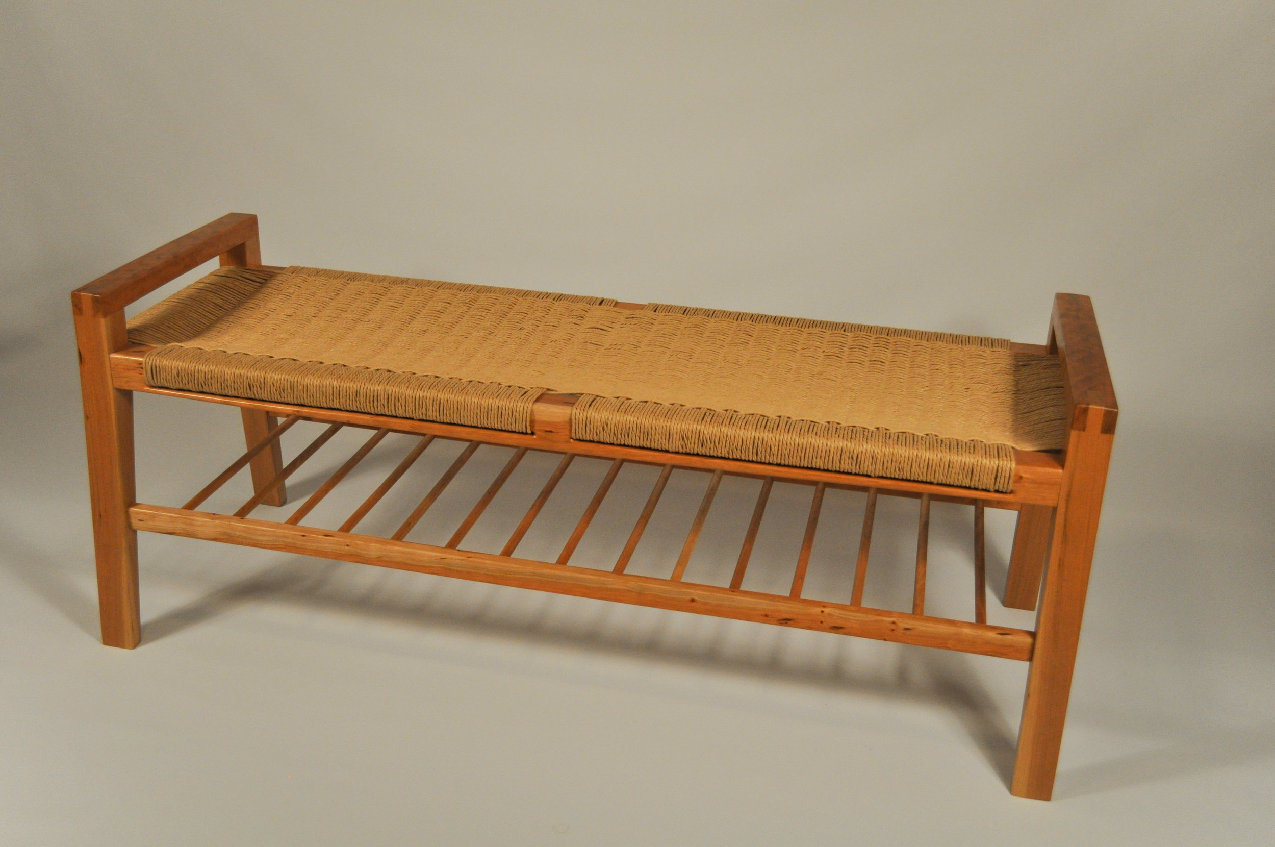 Sutton Bench With Shelf Sutton Projekt Furniture Maker Honolulu Hawai I
