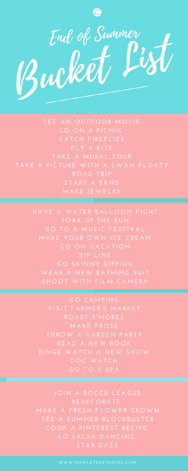 The Ultimate End of Summer Bucket List
