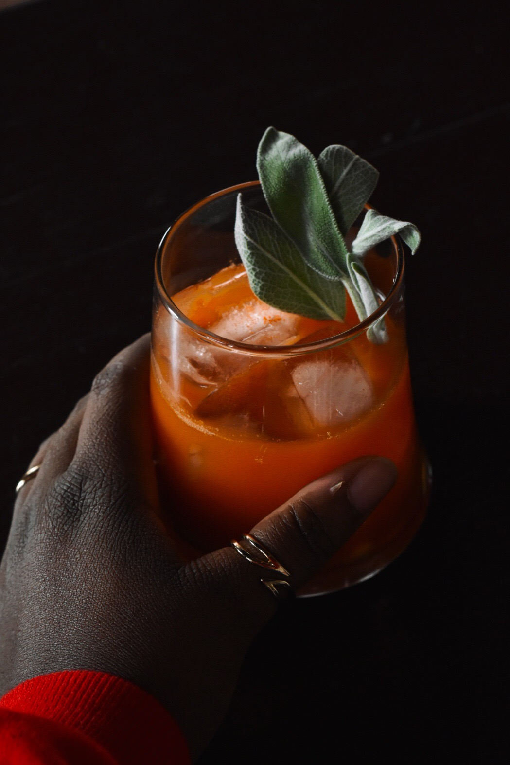 Carrot and Sage Whiskey Cocktail @nowletsgetgoing