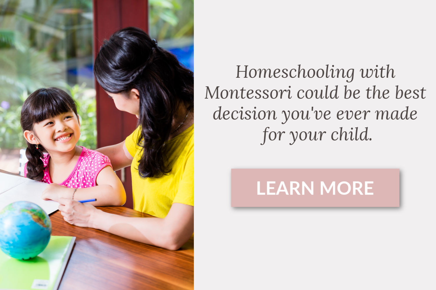 Learn more about Montessori homeschool curriculum.