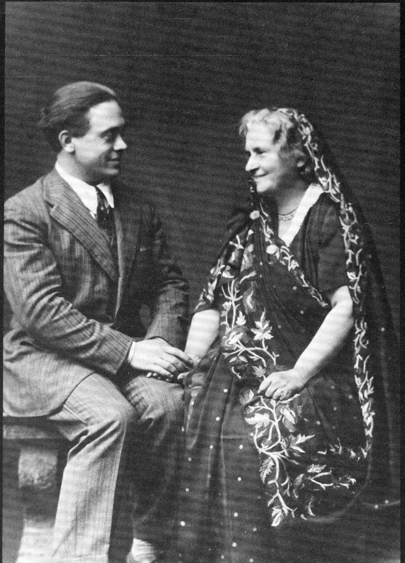 Dr. Maria Montessori and her son, Mario, in the 1920s