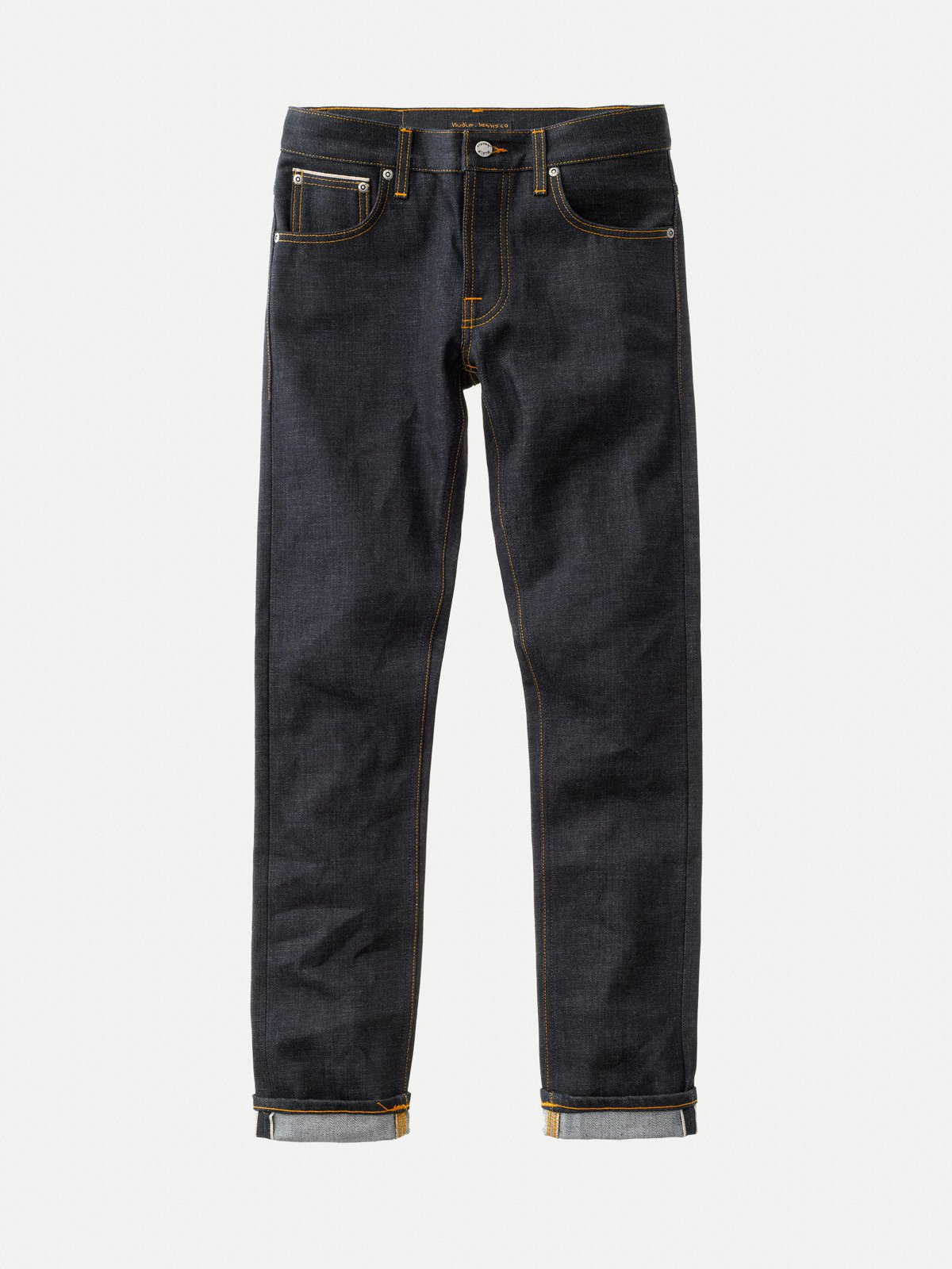 Nudie Jeans - Dry Selvage, sustainable cotton, a well-made pair of jeans that are made to be worn to the end of their useful life.