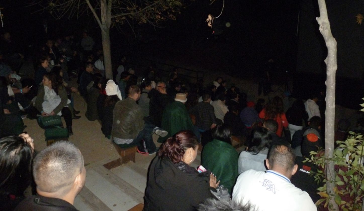 The Forest Screening - We screened the movie The Forest late at Franklin Park in LA.