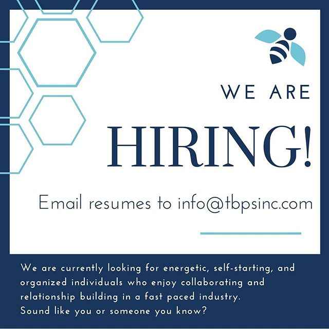A shout out to all the Career seekers!  We are hiring!  Email info@tbpsinc.com for more information.  #job #jobsearch #careersearch #chicagojobs #career #eventplanner #cre #commercialrealestate #chicago #downtownchicago #hireme