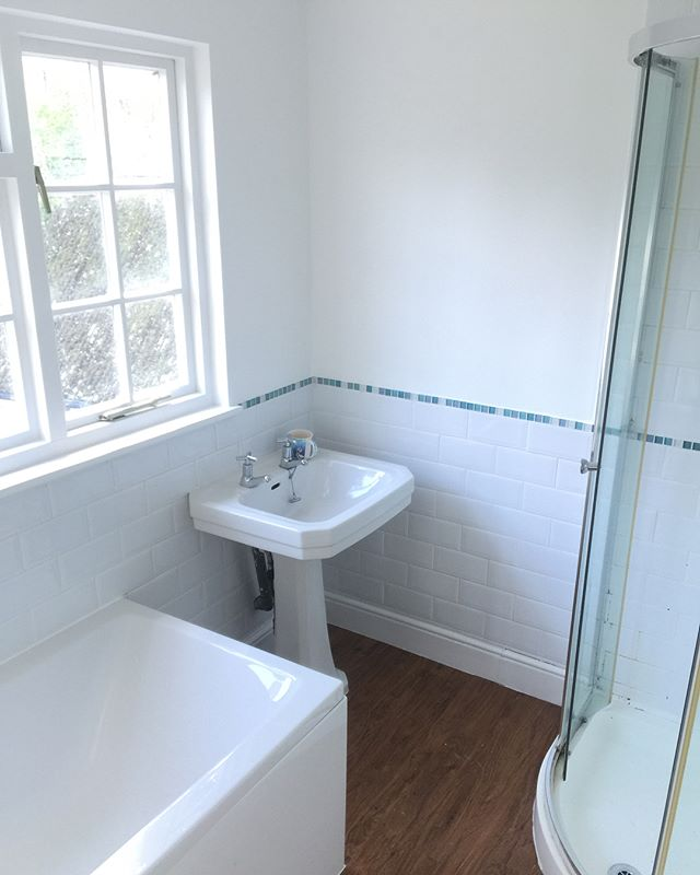 Small bathroom project by Taylor & Sons Painting and Decorating