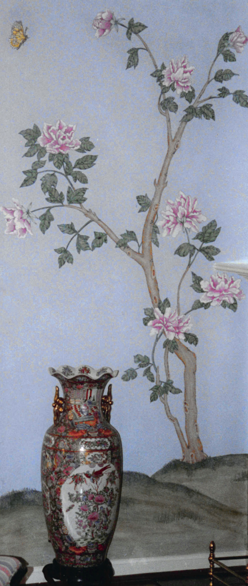 Chinese rose bush