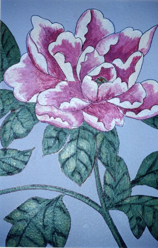 Rose mural (detail)