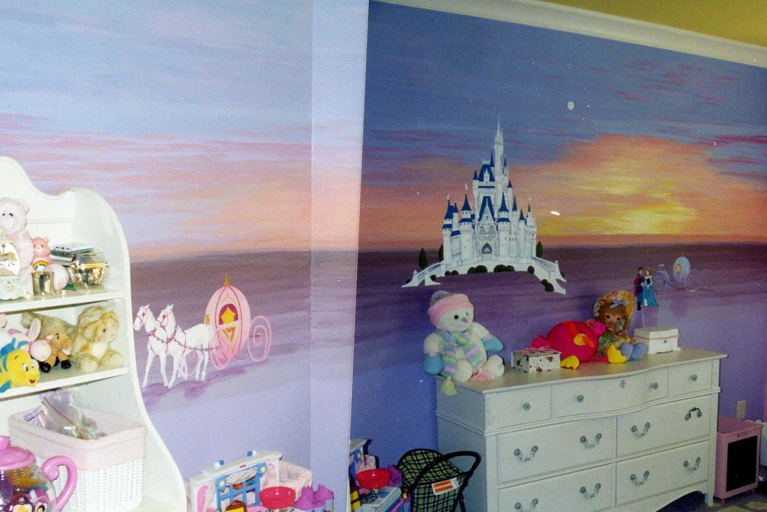 Cinderella's castle mural