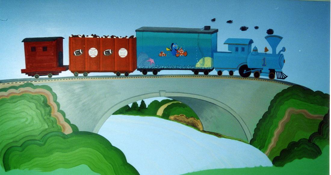 Nemo mural, train mural