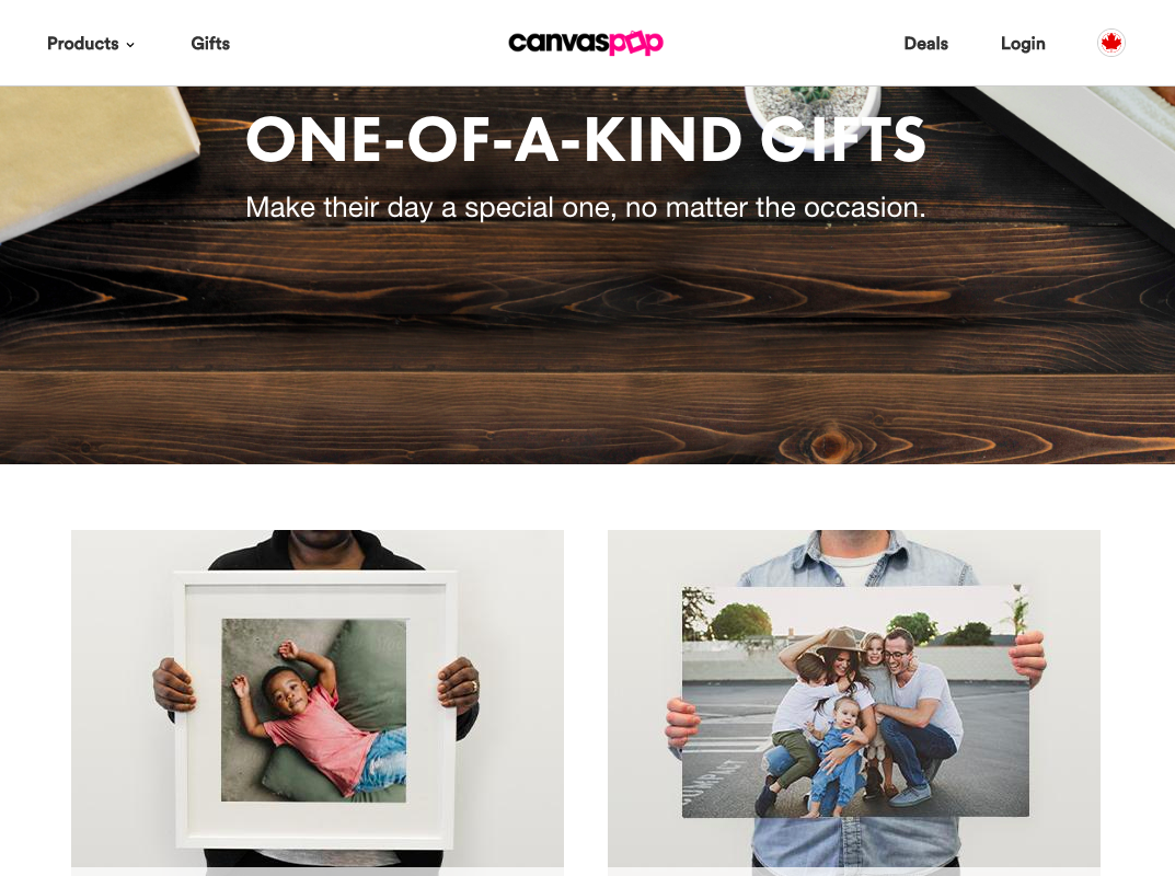 Wrote copy for CanvasPop's  gift guides .