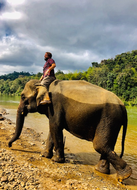 Me & Hmoung emerge from the Healing Waters of the Elephant Village Sanctuary