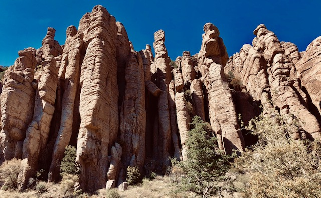 Chiricahua's Sculpted Solitude. Said an FB friend: 'Looks like a group of Elders watching over you'. Good one.