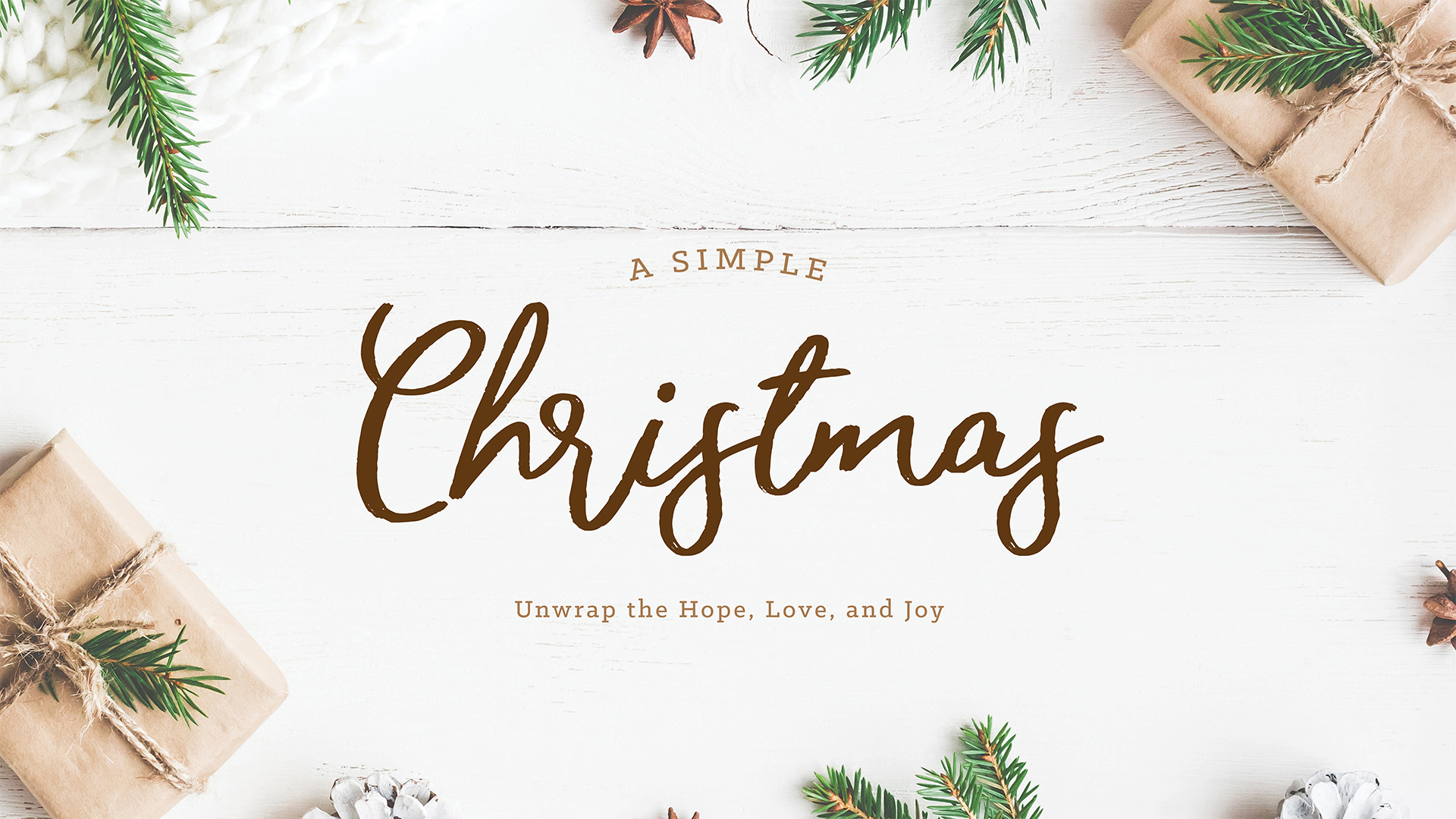 A Simple Christmas  - December 2017