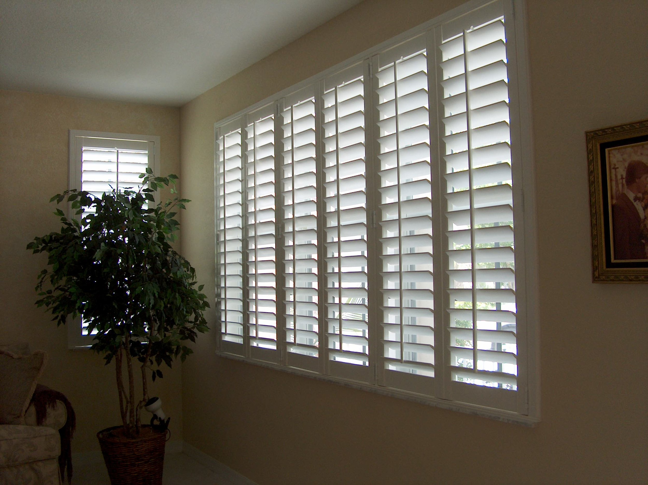 "White Synthetic ""Poly"" Interior Shutters"