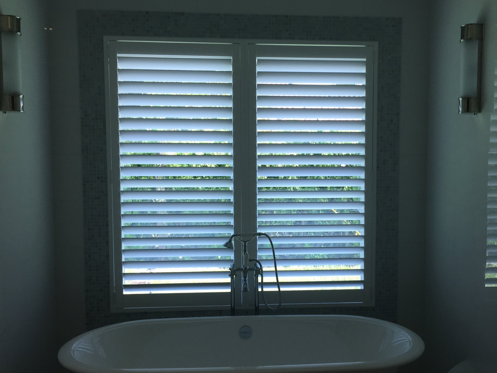"Poly Shutters with 3 1/2"" Louver Slats"