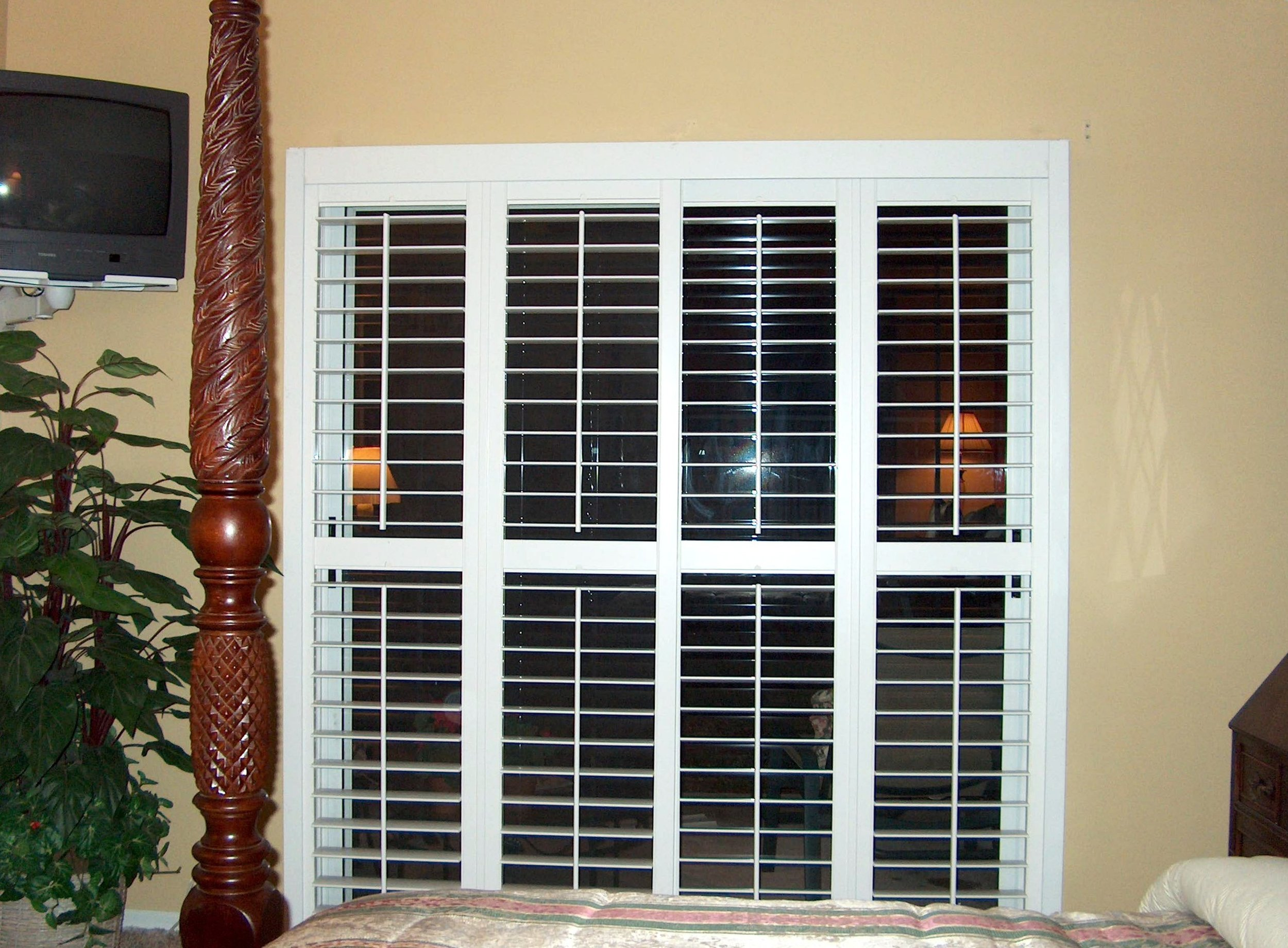 Poly Shutters in their full coverage position