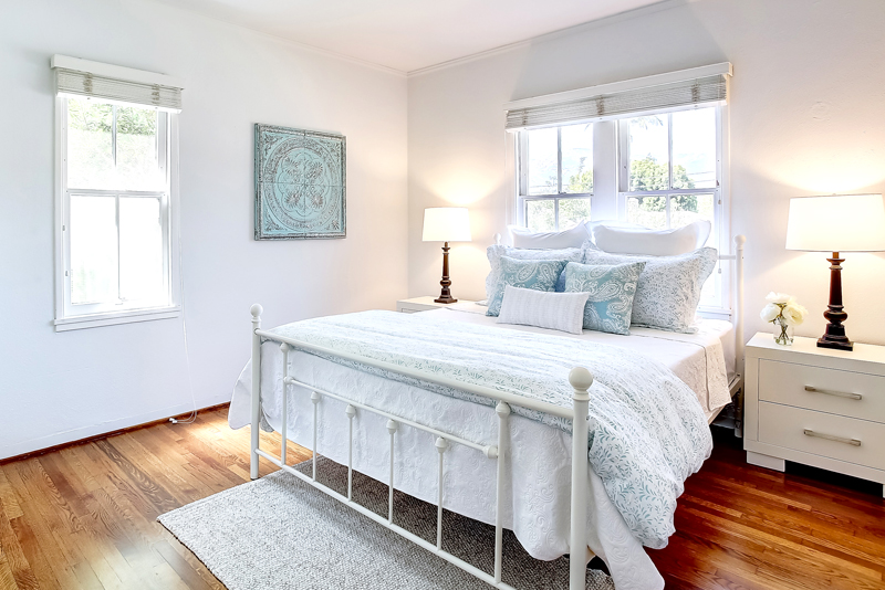 vacant home staging; master bedroom