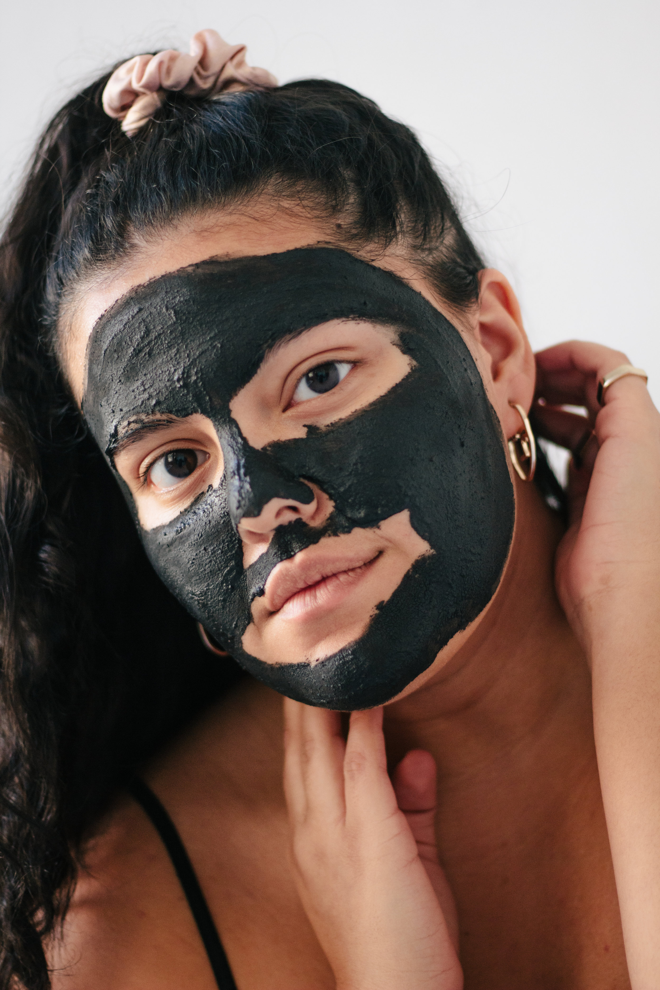 Victoria has on the  Activated Charcoal Detoxifying Mask  .