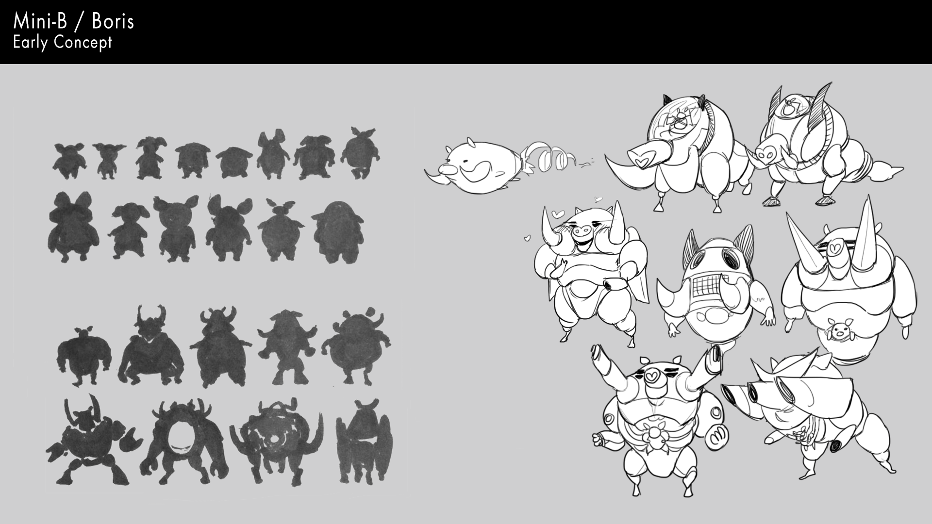 Mini-B and Boris early concepts.