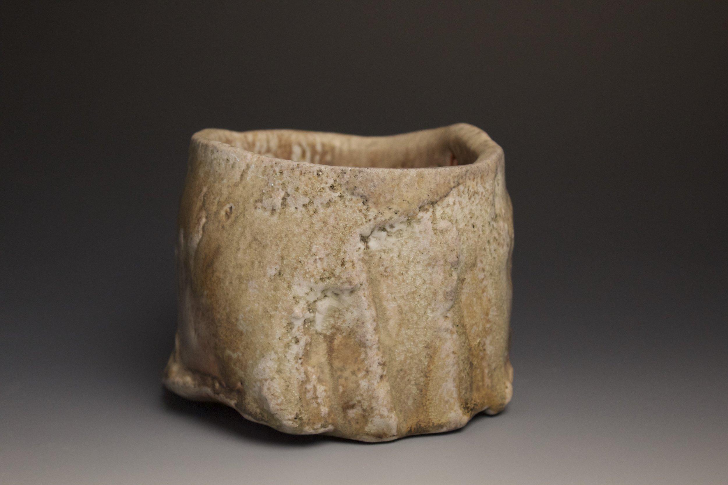 Coil built tea bowl
