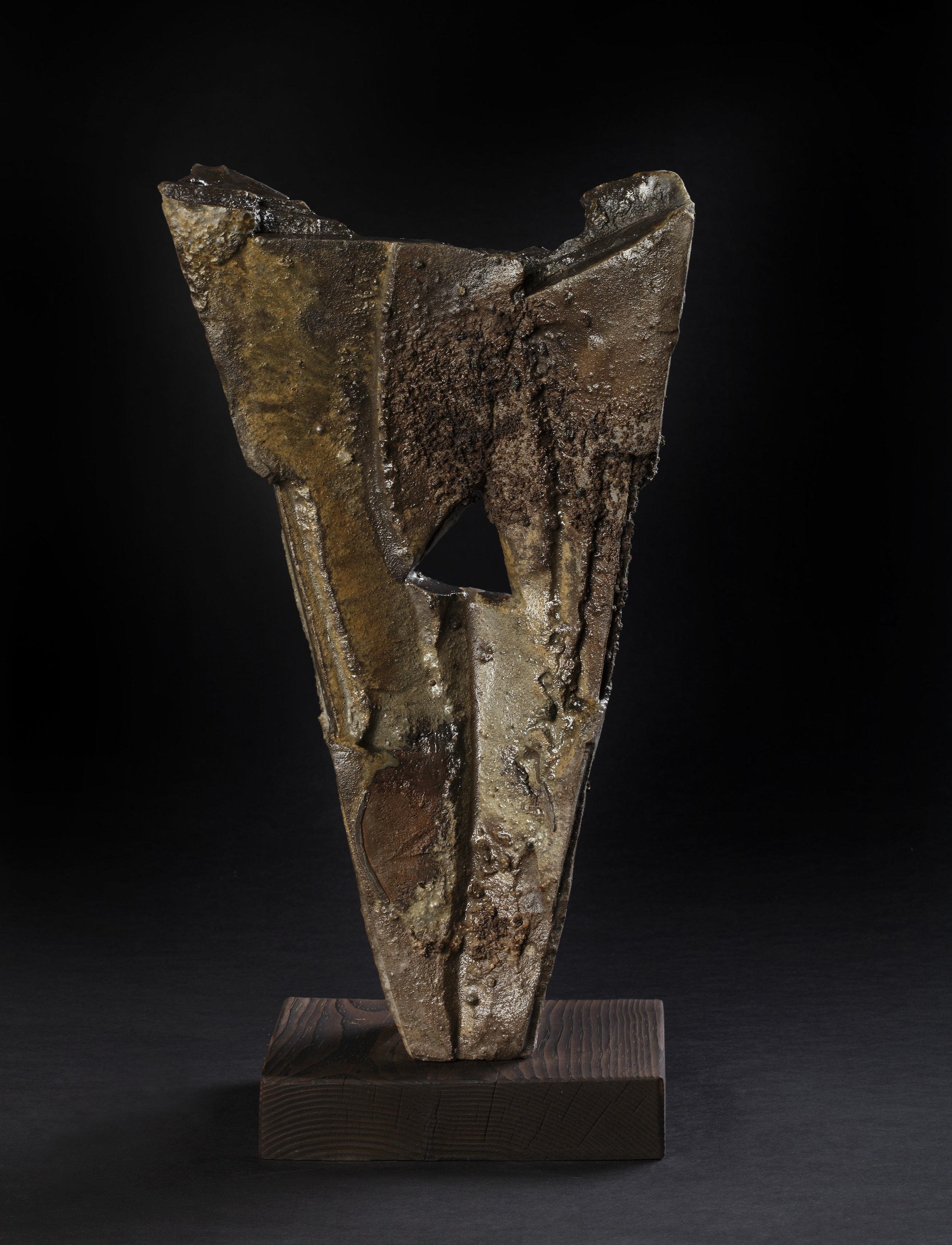 Form with triangle hole