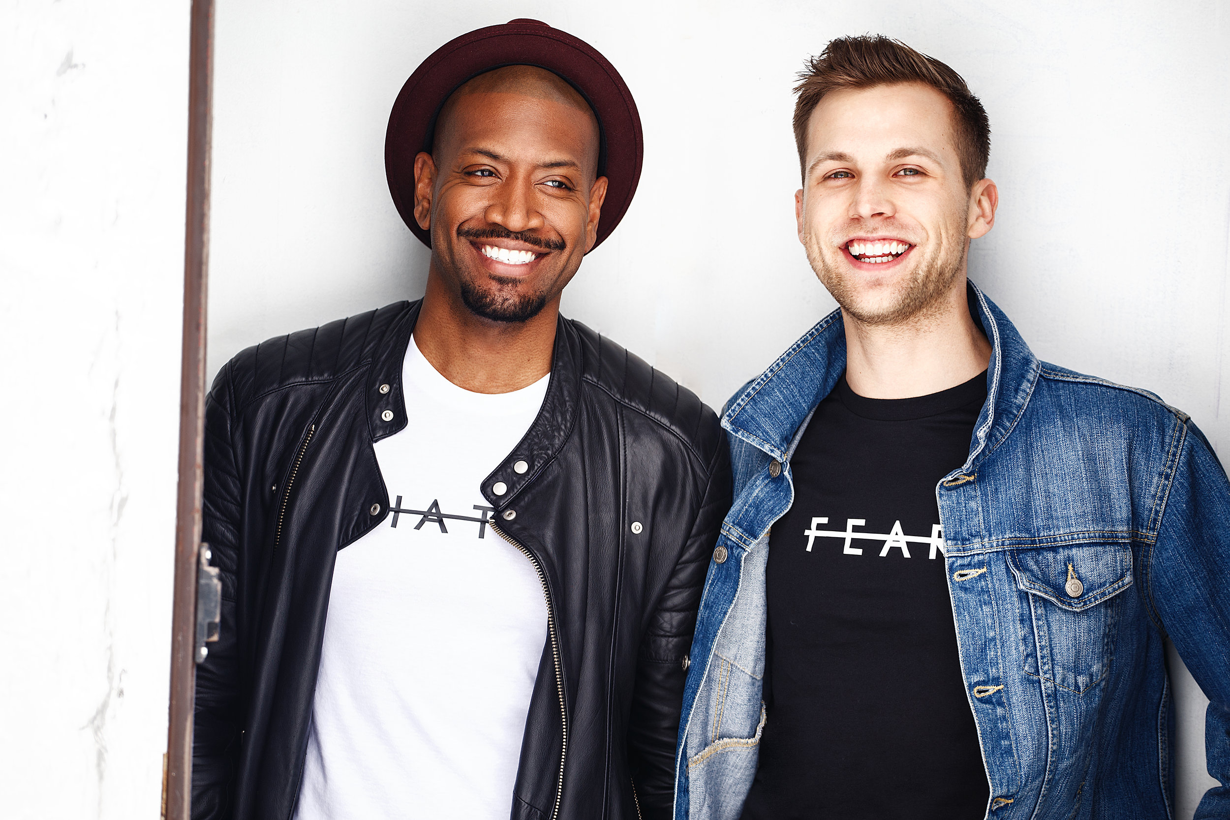 In 2016, Bryan Terrell Clark and Robert Raeder met in NYC - - One breakfast and a cup of coffee later, we knew that we were supposed to work together. As actors, we initially felt driven to help bring arts education to youth in the city. We quickly realized that we could create a brand that would help us deliver a powerful message of living free of labels, while we raised money for arts programs.