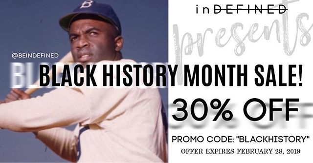 Happy Friday!! inDefined is having a sale on all merchandise in honor of Black History Monday✊🏾! Feel free to take advantage of the offer and spread the word. #blackhistorymonth #indefined
