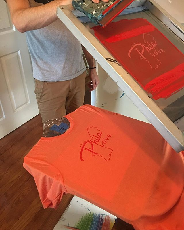 Finally got the site up and running. Now we're testing out some colors. • • • #philly #philadelphia #screenprinting #design #tshirt #tshirtdesign #southphilly #typography #printmaking #print #philalove