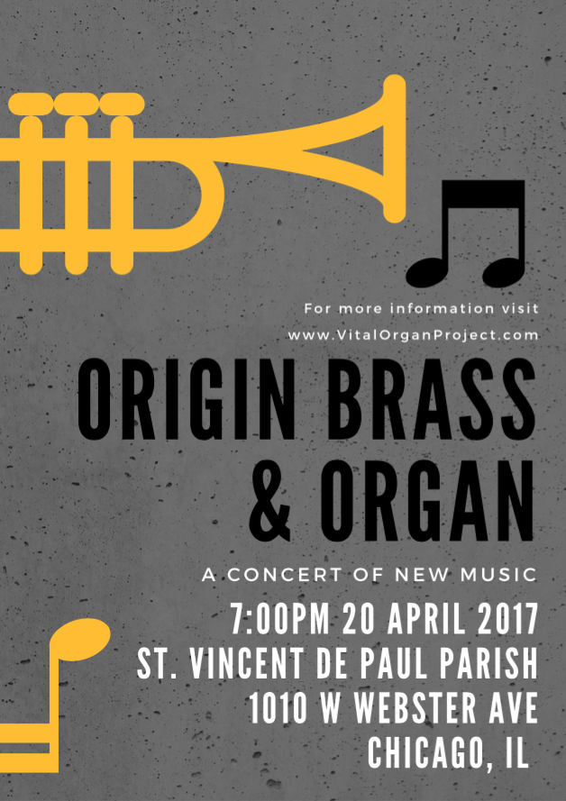 origin brass & organ poster