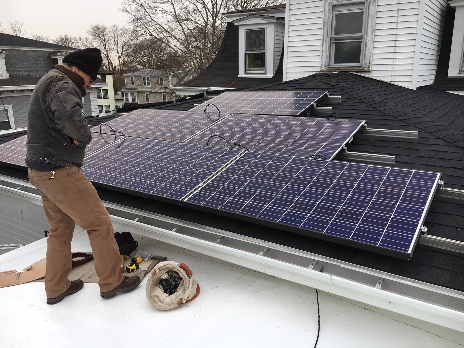 Worthmore solar array, Beverly MA; January 2017