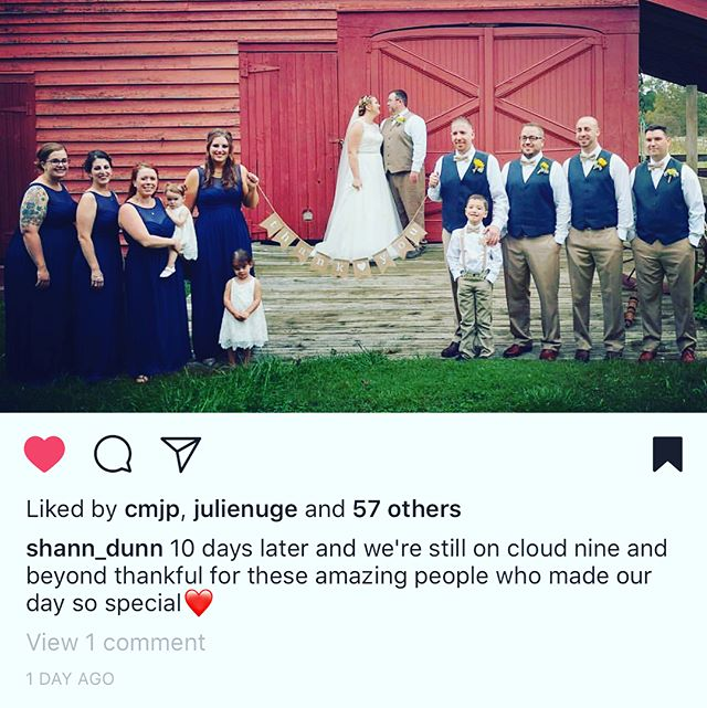 Congratulations to @shann_dunn on her recent nuptials! It was a beautiful and perfect fall wedding in #capemay. #weddingwednesday 🌻🌻🌻#regram @hcsvillage