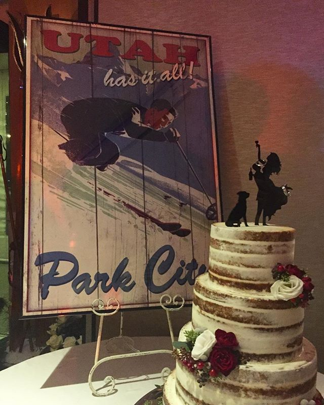 Winter is coming...who is excited for ski season? ⛷🎿❄️☃️#winterweddingcake throwback #winterwedding #petalsdesignsbymarianne