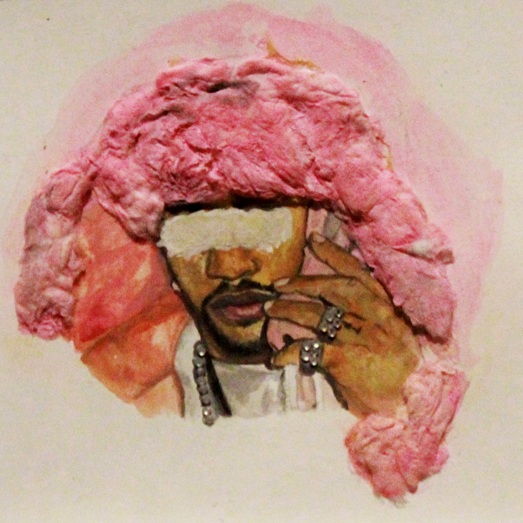 FART.PDF(Benjamin Moore) <br>Killa Cam 001, 2016 <br>Mixed media on paper <br>8 x 8 inches <br>Retail value: $95