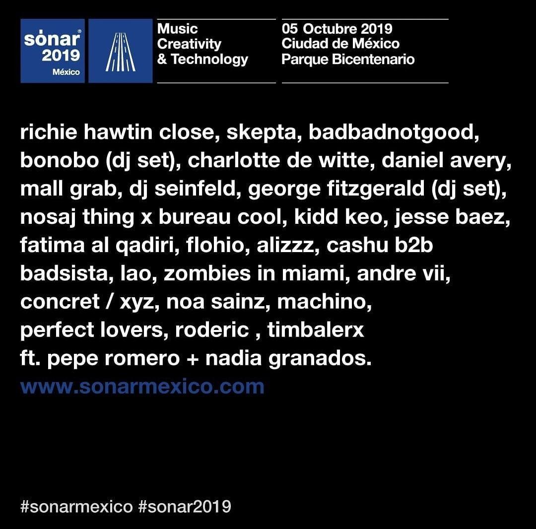 Sónar México 2019 line up