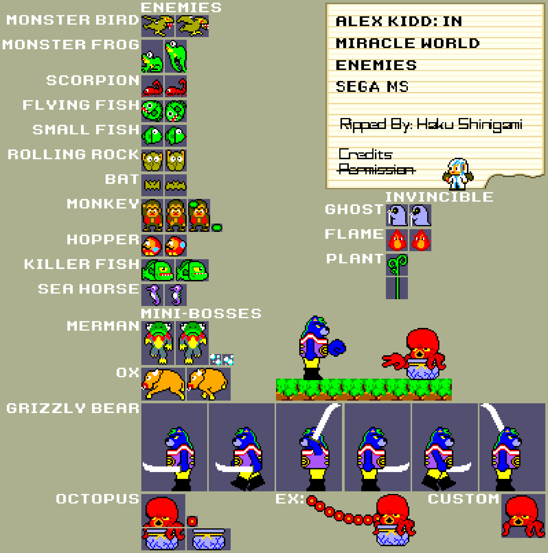 Master System - Alex Kidd in Miracle World - Enemies.png