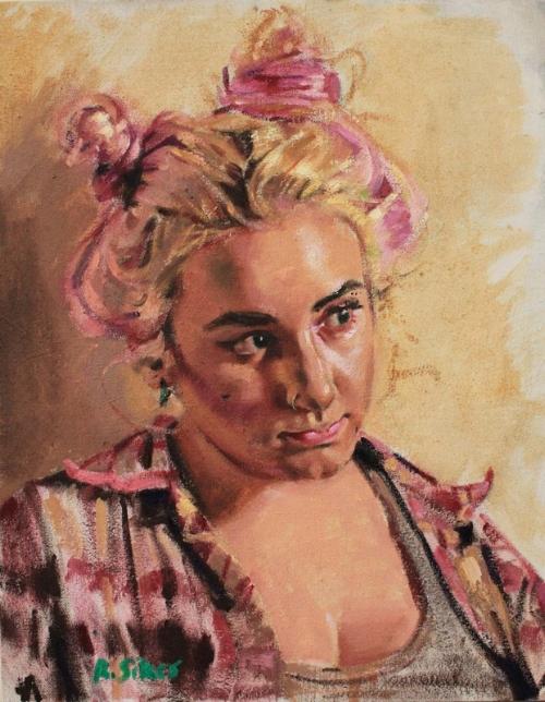 """""""hannah"""" Oil on canvas, 2015"""