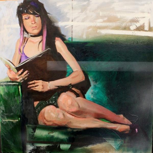 """""""heather"""", 2016, oil on canvas"""