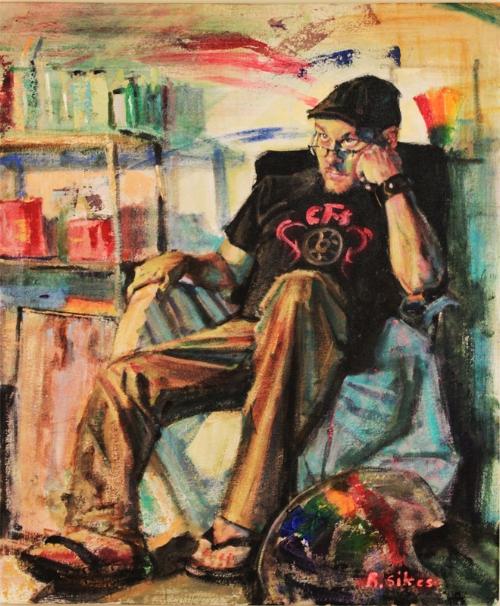 """self Portrait"",  2015, acrylic on canvas"
