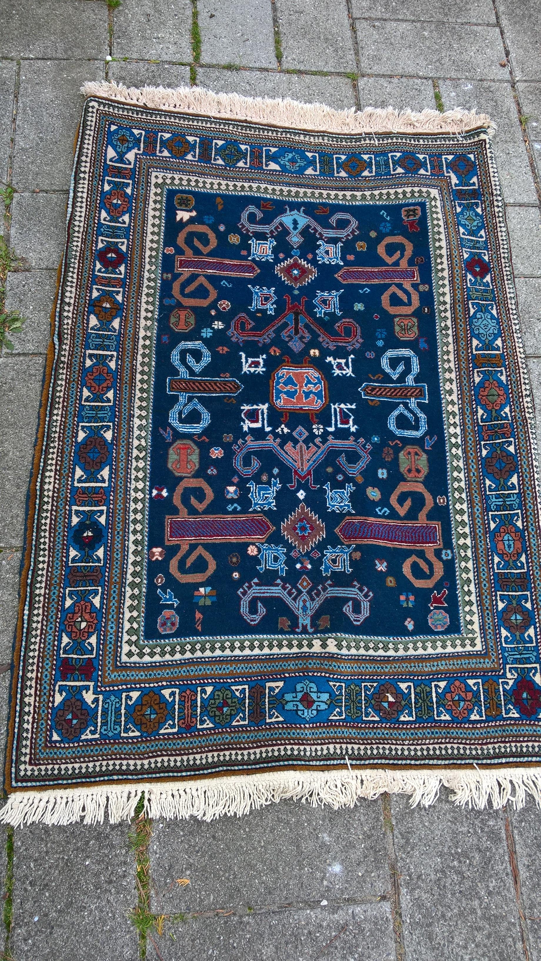 Ægte Persisk tæppe Shirwan Mål 145 x 101 cm Tæppe kr. 2.900,- Varenr. Rug16-3460-02-blue