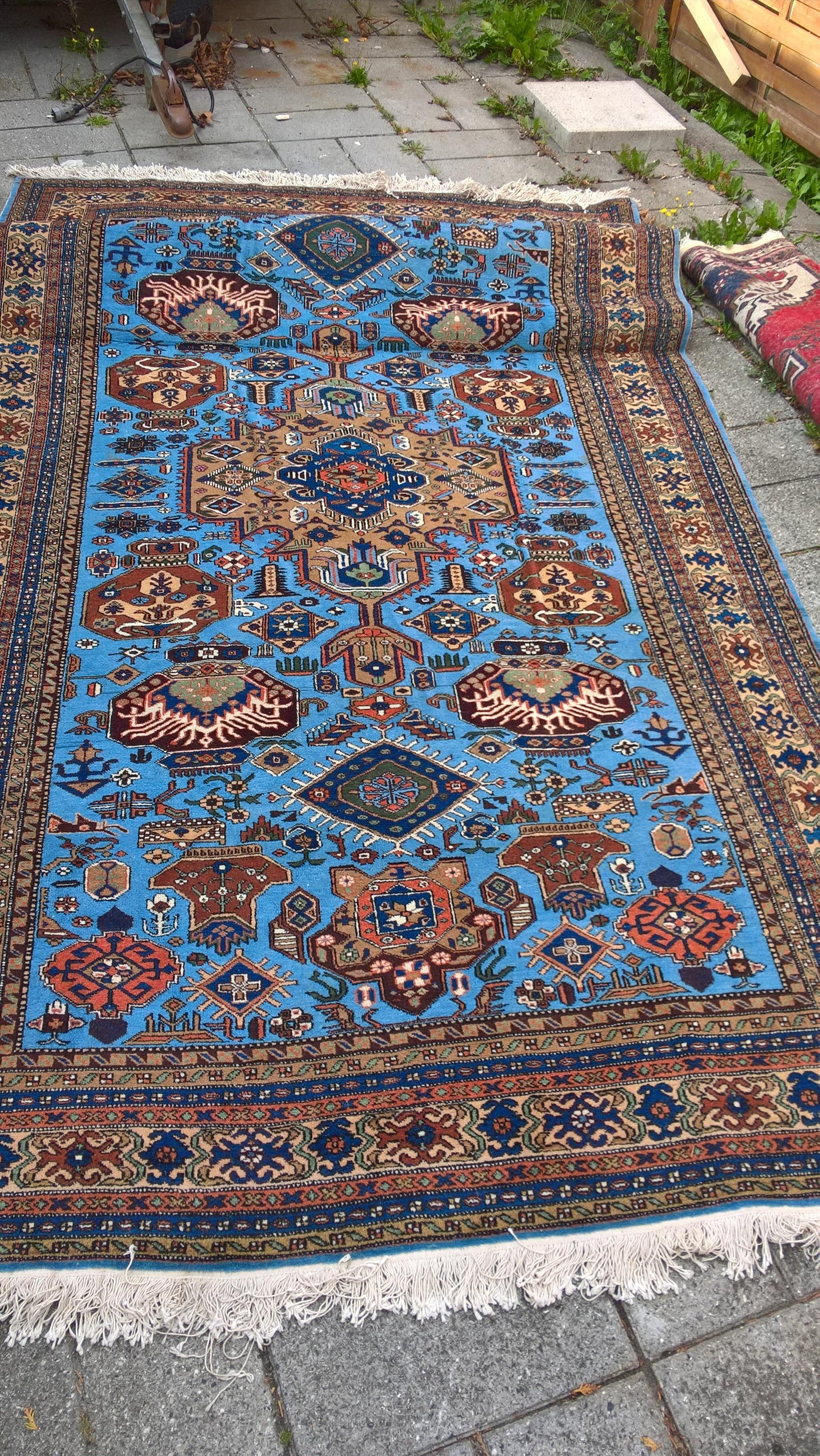 Ægte Persisk tæppe ARDEBIL / Iran Mål 290 x 170 cm Tæppe kr. 5.500,- Varenr. Rug16-3460-05-turkis