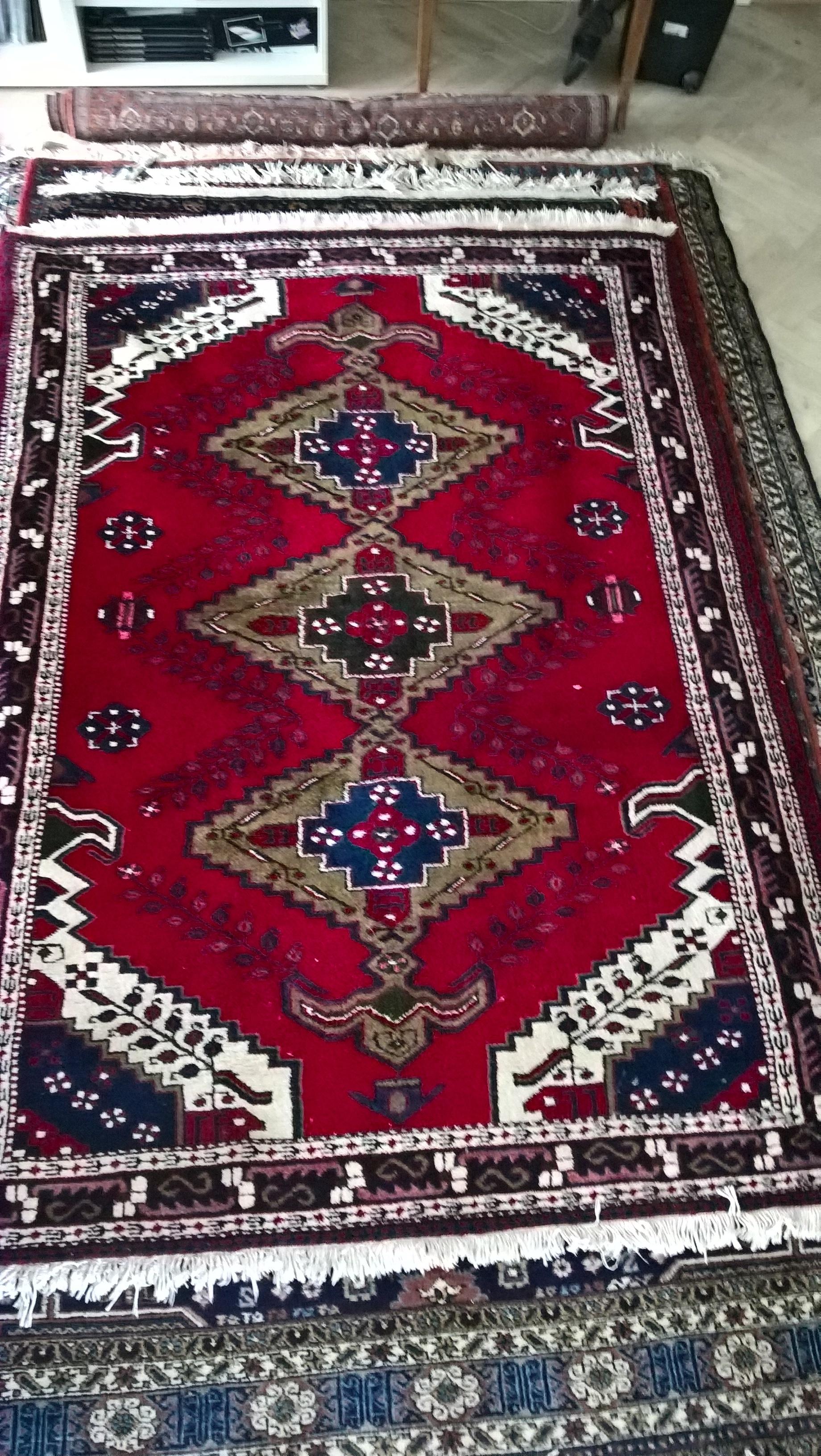 Ægte Persisk tæppe fra Shahsavan    Mål: 203 x 147 cm Kraftig uld Tæppe kr. 4.500,- Varenr. Rug16-3460-13-red