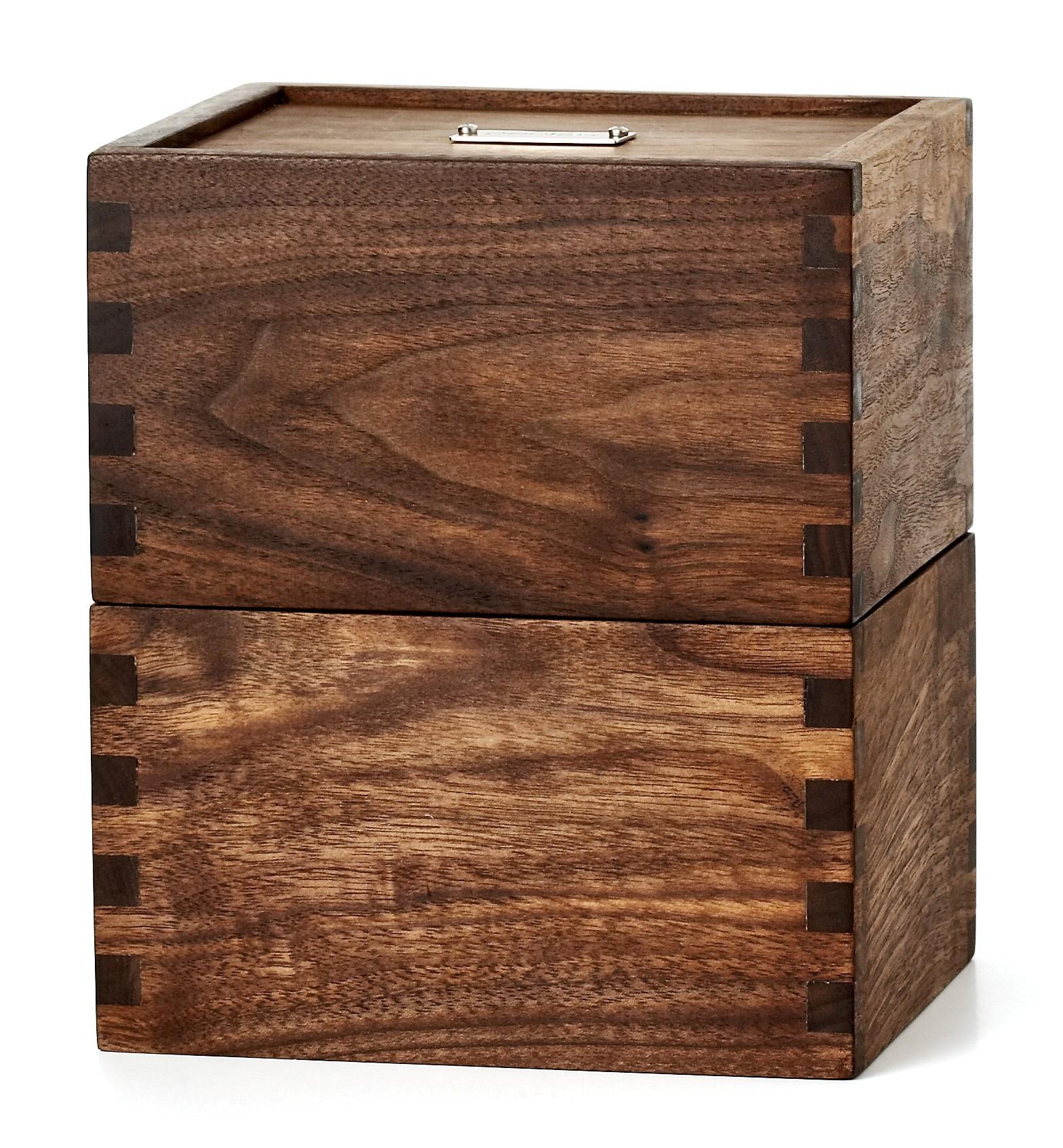 Penlau®  dishbox - medium Træ box,lukket 15,5/12,5/18 cm (b/d/h)
