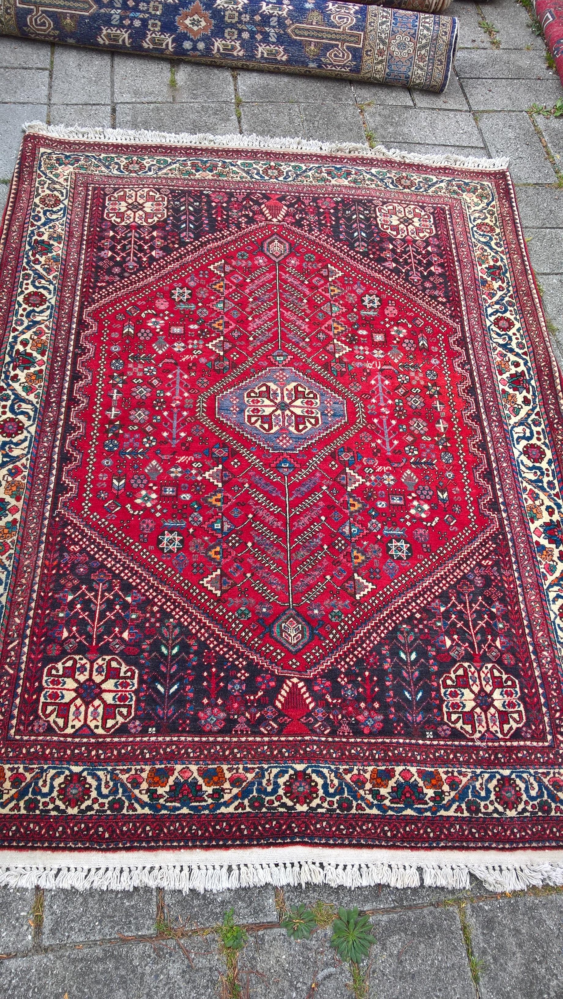 Flot stort tæppe fra Abadeh 205 x 154 cm